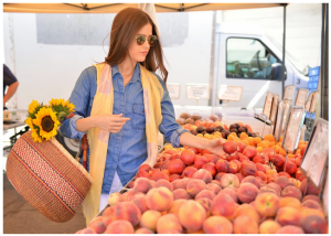 We love the casual ease our Colorbloc scarf adds to Paola Alberdi's (@blank_itinerary) ensemble that she wore to the farmers market. Our delicate scarves can compliment any outfit!